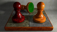 small chess board pawn 3d model