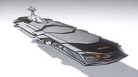 c4d space heavy cruiser