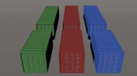 storage crates - style 3d 3ds