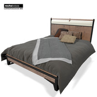 3d model rochebobois correspondances bed