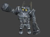 free character golem 3d model