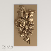 carved flower cnc 3d max