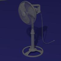 3d model electric fan