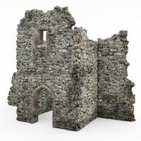 3d model of castle ruins