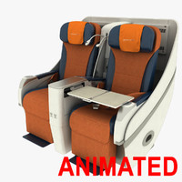 airbus a330 seat 3d max