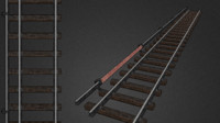 subway rails 3d model