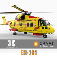 EH-101 Helicopter Pre-Rigged for Craft Director Studio