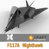 pre-rigged f-117a nighthawk craft 3d 3ds