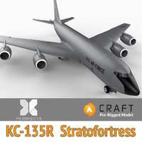 3d pre-rigged kc-135r stratotanker craft