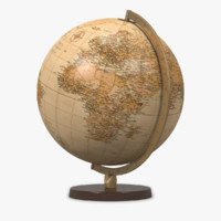 maya world globe antique