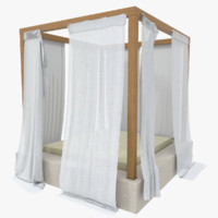 3ds max outdoor bed