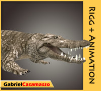 3ds max saltwater crocodile