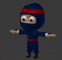 3d cartoon ninja model