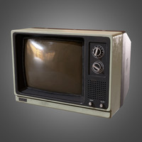 3d model television - pbr ready