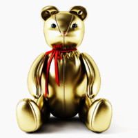 3d bear gold