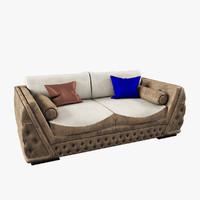 2-seat sofa giada zanaboni 3d model