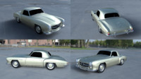 mercedes 190sl 3d model