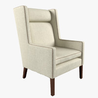 van wing chair 3d ma