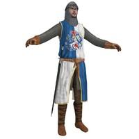 3d medieval knight