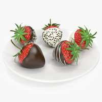 Realistic strawberry chocolate covered