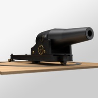 dhalgren smooth-bore cannon 3d obj
