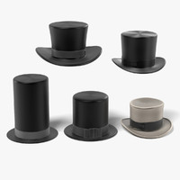 hat tophat 3d 3ds