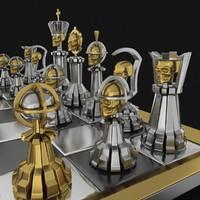 3d model chess skull