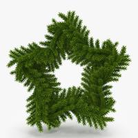 christmas wreath obj