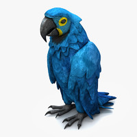 3d model parrot species