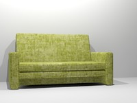 3ds max comfortable couch modern