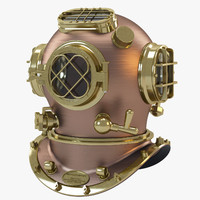 navy diving helmet 3d model