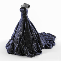3ds max evening dress