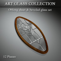 3dsmax art glass window door