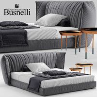 3d model bed sedona busnelli