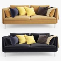 3ds max ikea soderhamn sofa seat