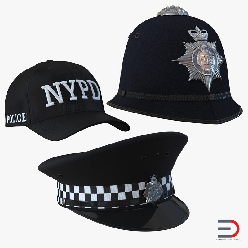 Police Hats Collection 3d models 00.jpg
