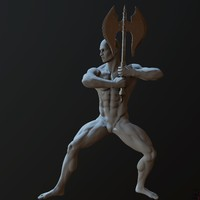 zbrush posed male character 3d obj