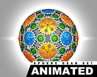 gear spheres animation set 3d max