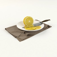 3d model limon plate