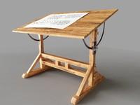 Drawing desk 3dsmax