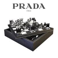 3d model chess set prada