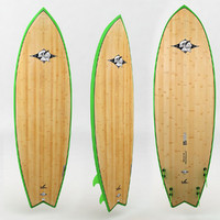 surfboard wood green