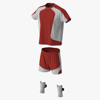soccer uniform red c4d