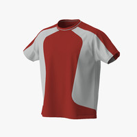 tshirt red 3d 3ds