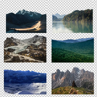 Nature Landscapes Texture Pack with Alpha