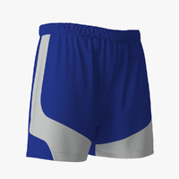 3d model soccer shorts blue