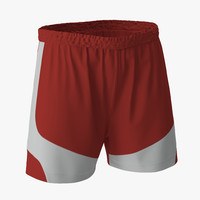 soccer shorts red 3ds
