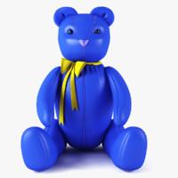 3d model of bear blue