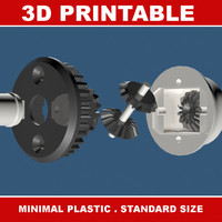 printable rc differential gear 3d x