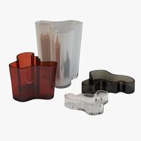 3d scandinavian vases model